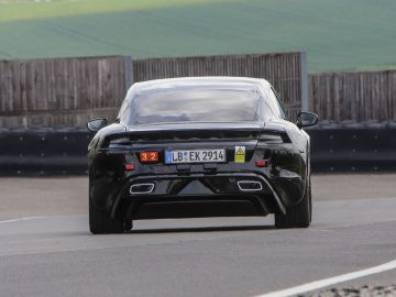 Mark Webber test Porsche Mission E prototype
