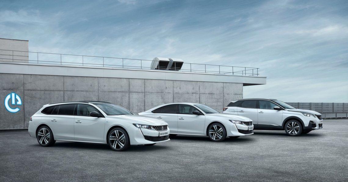 Peugeot plug-in hybrid cars