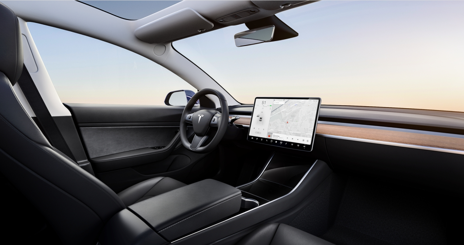 Tesla Model 3 - Interieur Zwart