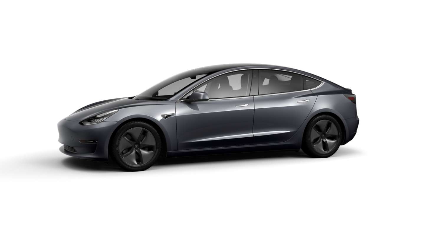 Tesla Model 3 - Midnight Silver Metallic