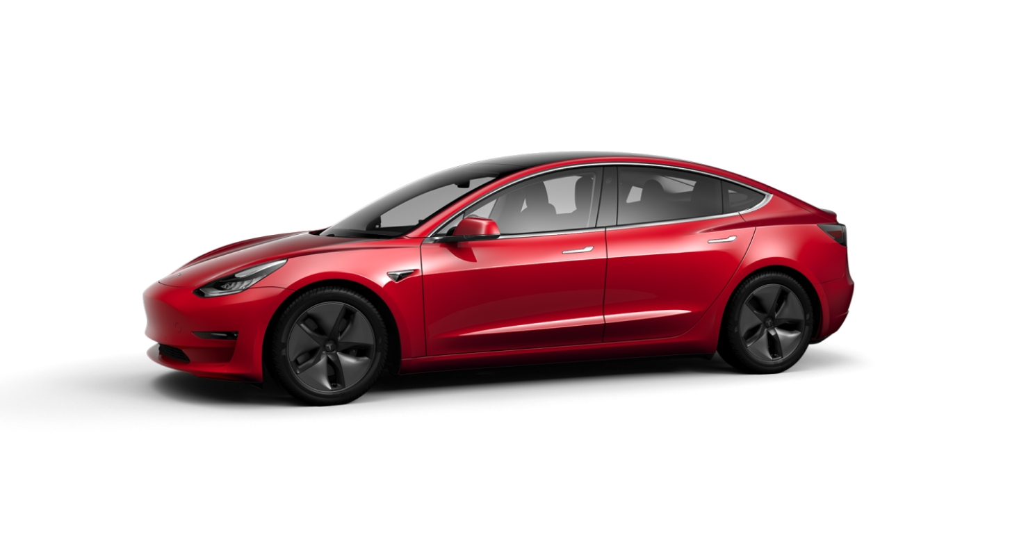 Tesla Model 3 - Multi-Coat Red