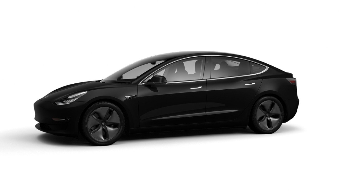 Tesla Model 3 - Solid Black