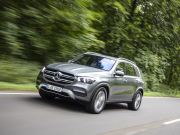 GLE 350 de 4MATIC, selenitgrau metallic, Ledernachbildung ARTICO/ Mikrofaser DINAMICA schwarz,  